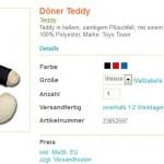 Der Döner Teddy, die süße Geschenkidee für Döner Liebhaber
